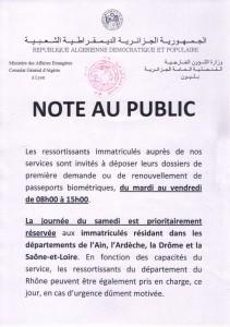 A.S dépot des demandes de passeports biométriques le samedi